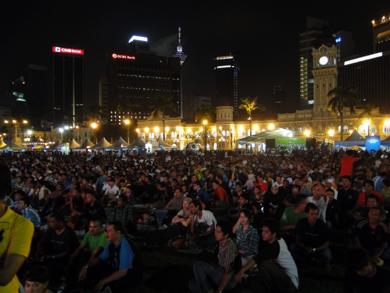 Public Viewing auf dem KL View